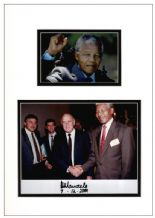 Nelson Mandela Autograph Signed Photo